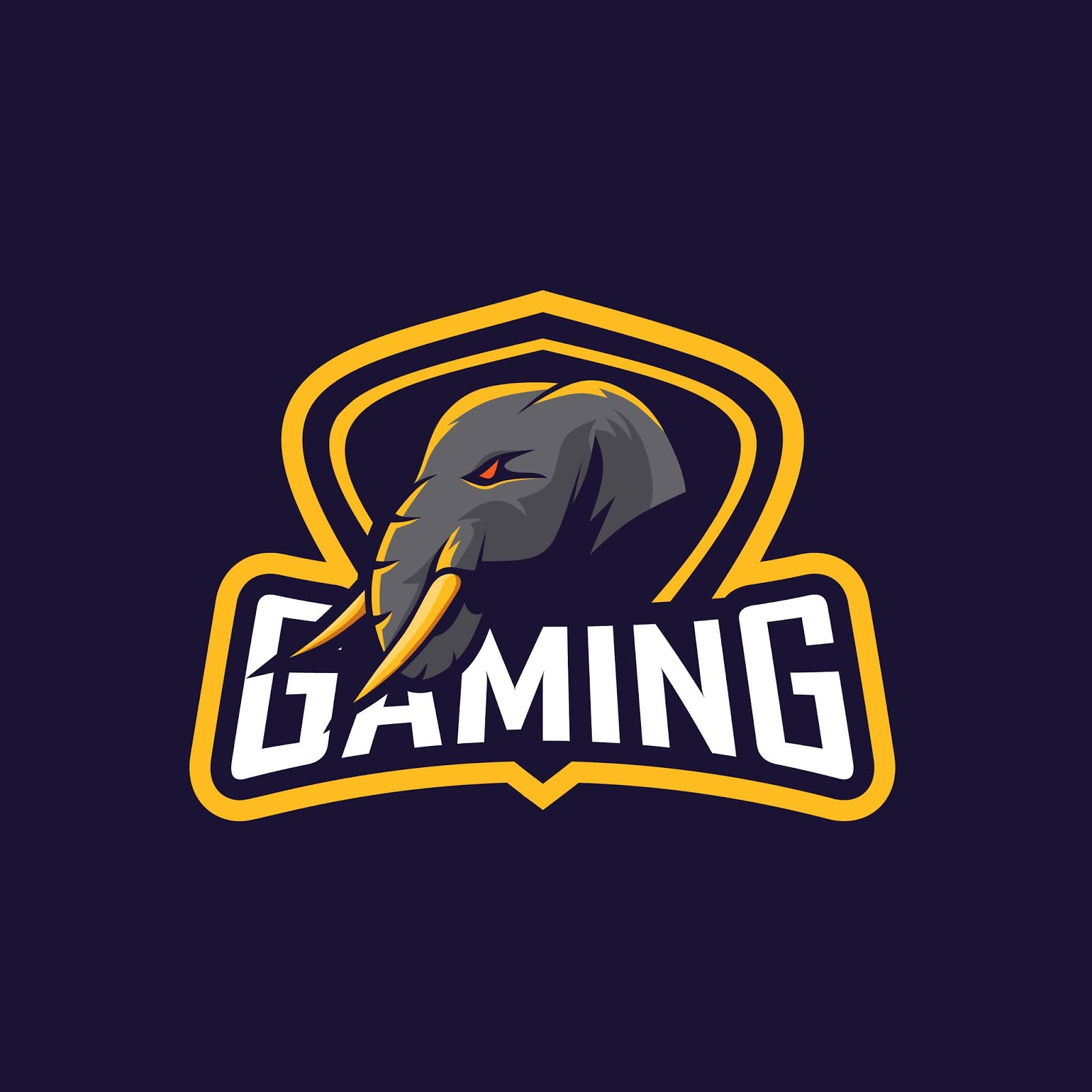 Awesome Elephant Logo Squad Gaming Free Download Vector CDR, AI, EPS and PNG Formats