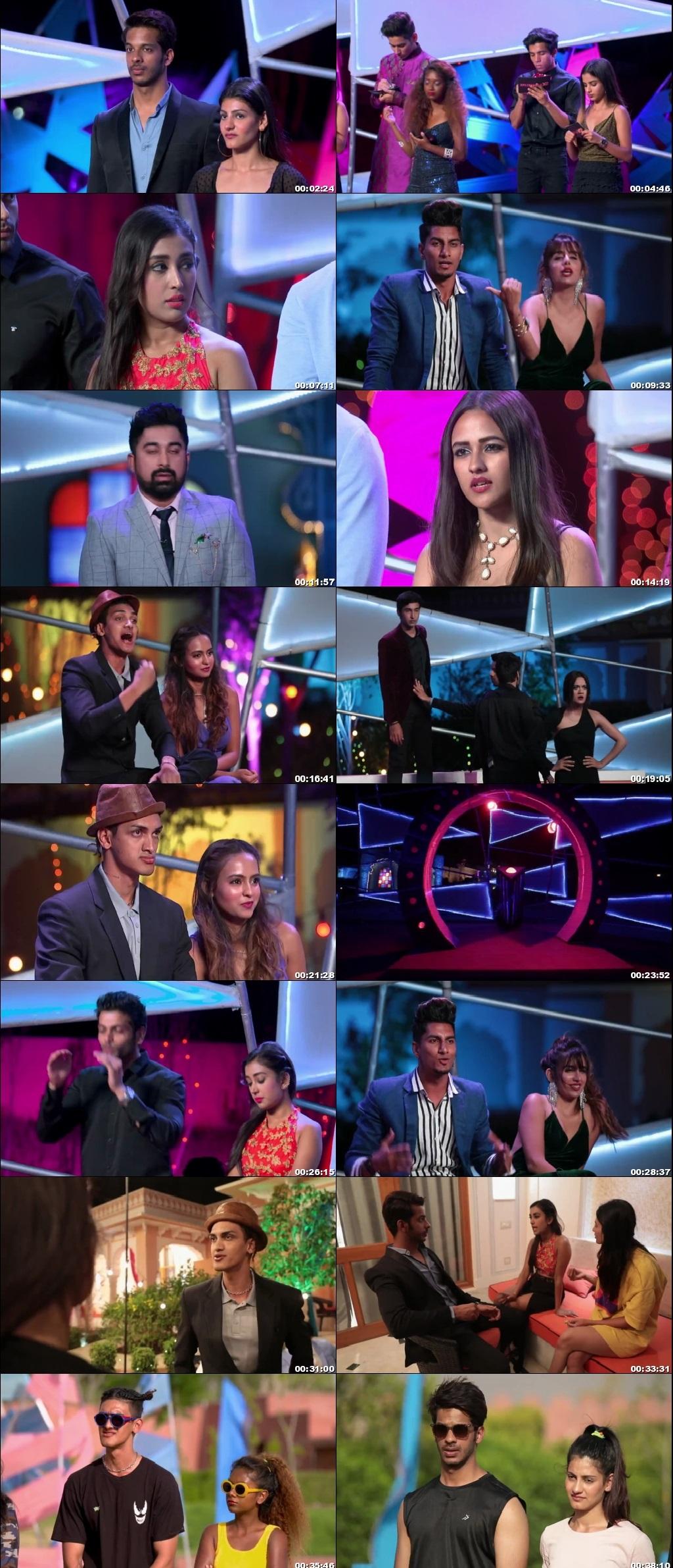 Screenshots Of Hindi Show Splitsvilla 12 11 October 2019 Episode 09 300MB 720P HD