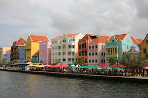 Waterfront cafes, Willemstad, Curaçao