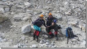 Jodrian e Rosana próximo ao Glaciar do Huayna Potosi