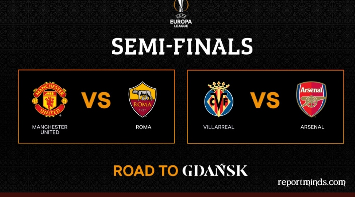 Europa League semi-final draw: Man Utd face Roma as Unai Emery's Villarreal will play Arsenal