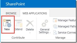 Create New SharePoint Web Application