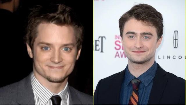 Parece mas não é a mesma pessoa: Elijah Wood (Frodo) e Daniel Radcliffe (Harry Potter)