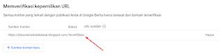 memverifikasi kepemilikan URL di google news