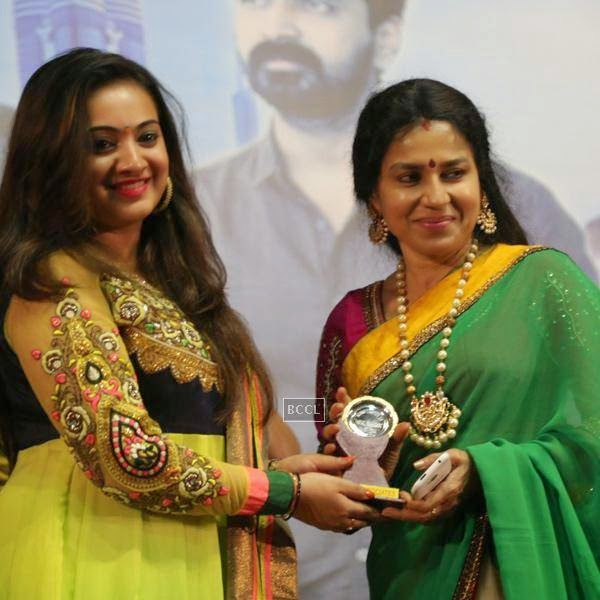 Guests during the audio launch of Tamil movie, held in Chennai.