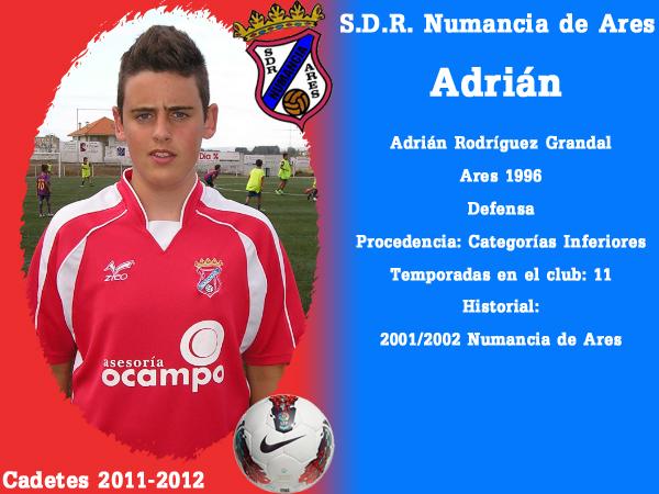 ADR Numancia de Ares. Cadetes 2011-2012. ADRIAN.