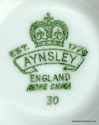 Aynsley China Vintage Backstamp