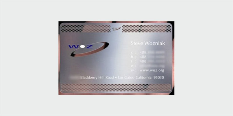 steve wozniak business card design