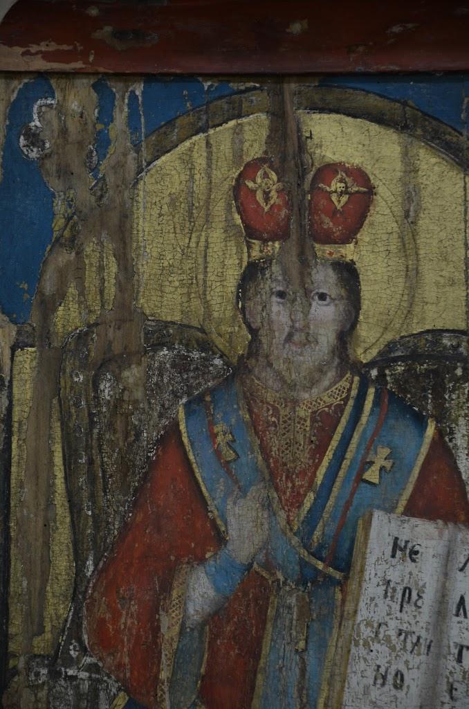 oo hrabova roztoka   ikona pantokrátora , stav  po tmelení (4)