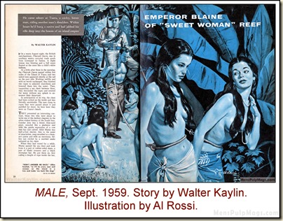 04 - MALE, Sept 1959. Al Rossi art for Walter Kaylin story