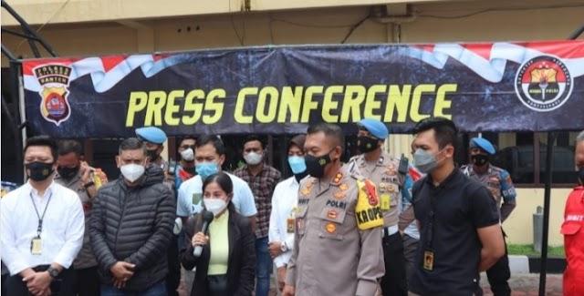 Polres Cilegon Mengadakan Press Conference Atas Peristiwa di Pospam Ciwandan