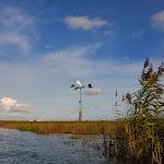 045-We paddelen door het mooie Noordwaard vaarwater.