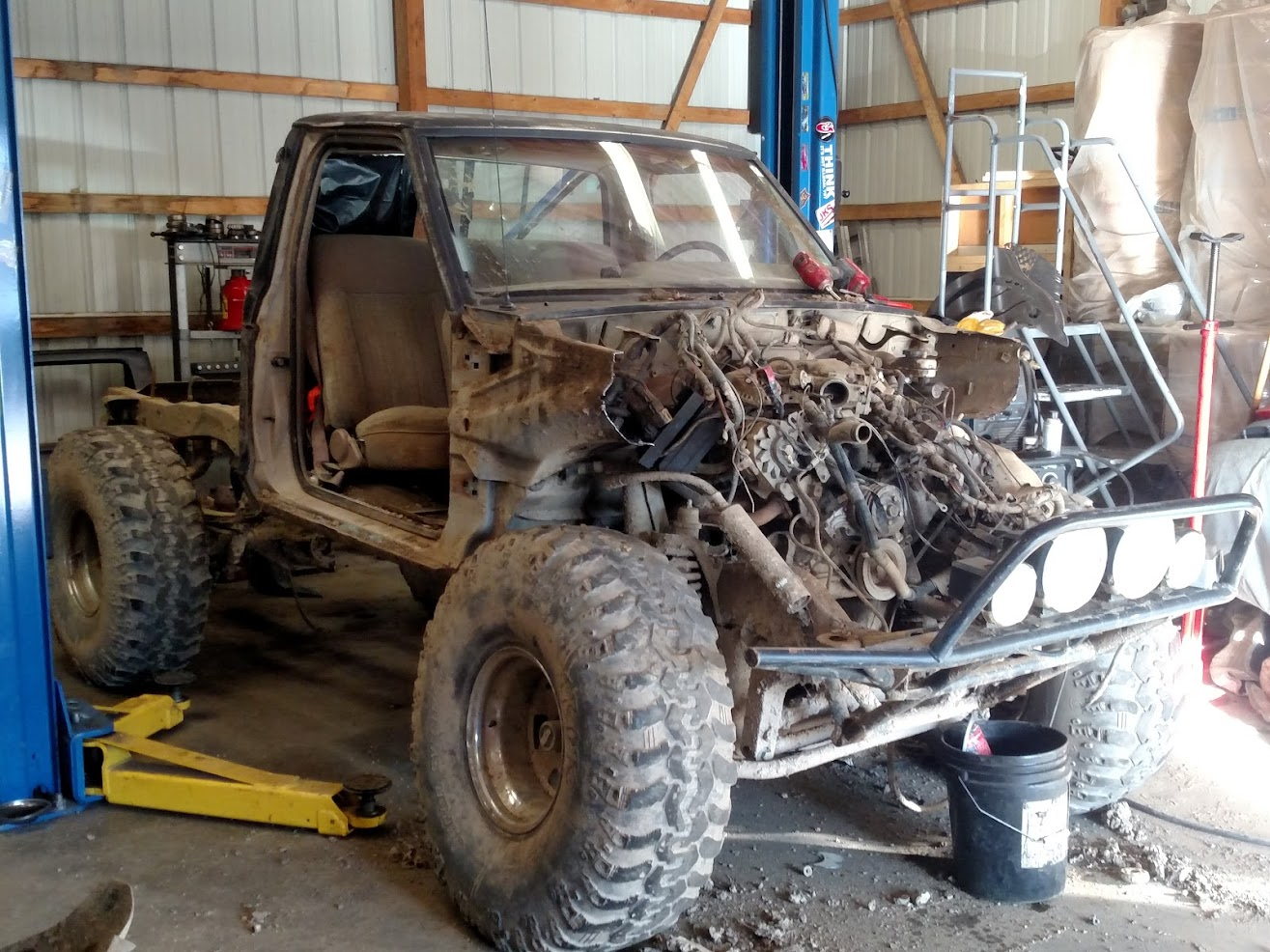For the last 2 years its been our mega truck bronco that this bronco 2 is the mini me of so the first day of hell week we tore apart the ranger