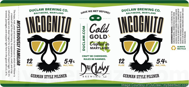 DuClaw Adding Incognito German Pilsner Cans