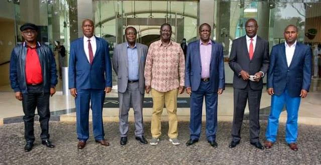 Raila Odinga hosts all Western region governors photo