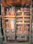 The kiln is all loaded and ready for the year's last firing