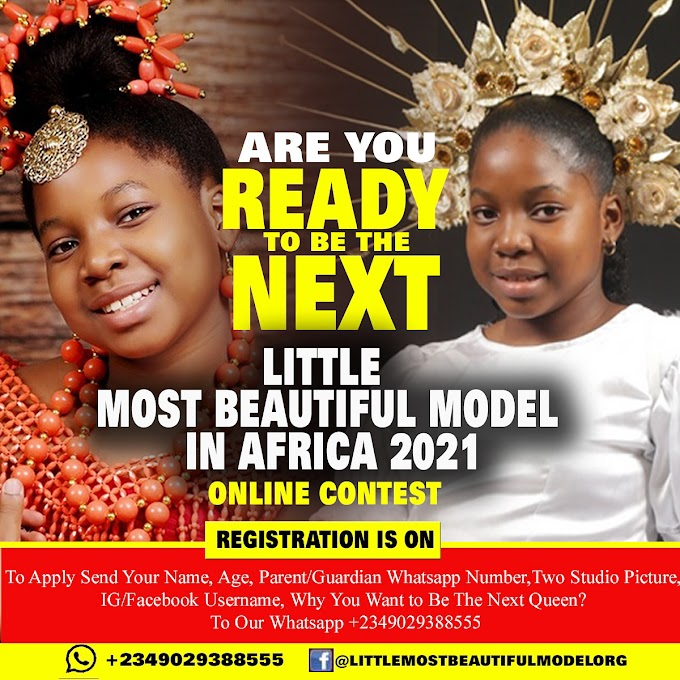 Who becomes the Little Most Beautiful Model In Africa Online Contest 2021