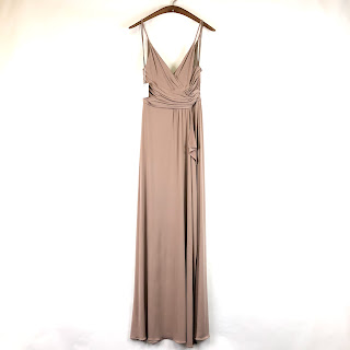 *SALE* Amsale NEW Beige Ruched Gown