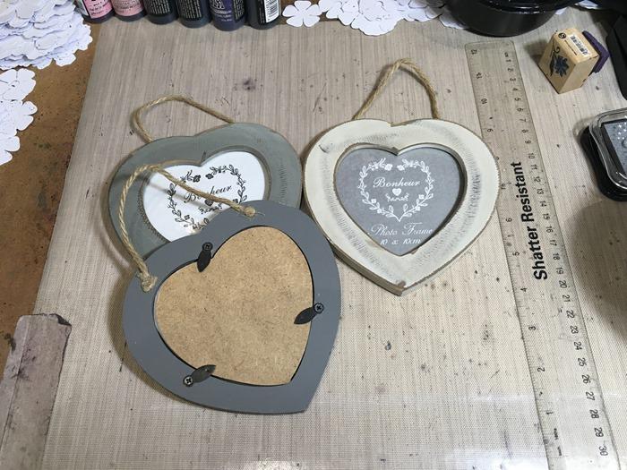 01 Three Small Heart Frames from Ebay