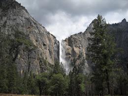 Bridalveil Falls in Yosemite Valley.
