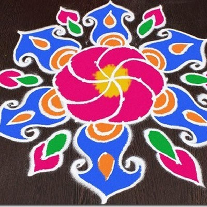 Dibujos para colorear de Rangoli (mandalas)