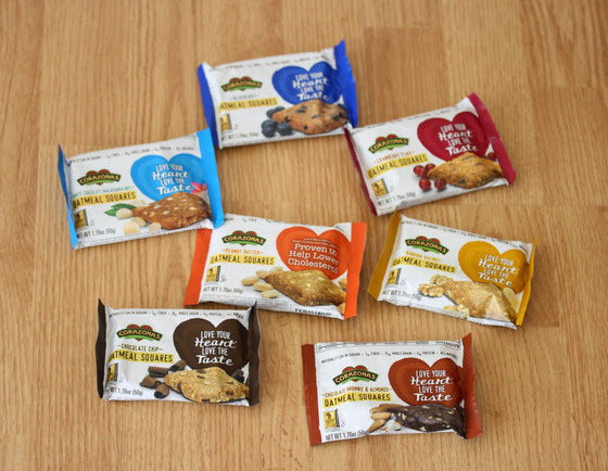 overhead photo of package of granola bars