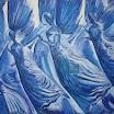 Drei Engel Blaue Variante, 2000. �l auf Leinwand, 120 x 160 cm (ungerahmt), signiert. - verkauft