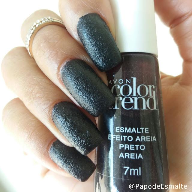Esmalte Preto Areia - Avon Color Trend
