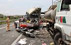 Tai nạn giao thông nghiêm trọng, thi thể tài xế kẹt trong cabin