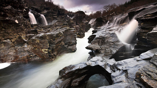 Eroded Rock Formations, Glen Orchy, Highland, Scotland.jpg