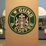 I love guns & coffee at lock & load Miami in Miami, Florida, United States