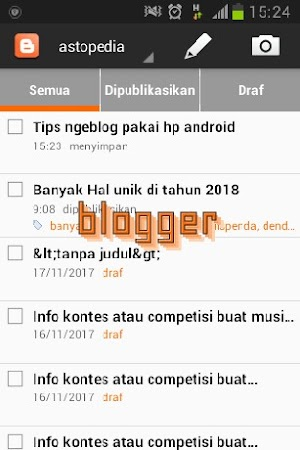 Tips ngeblog pakai hp android
