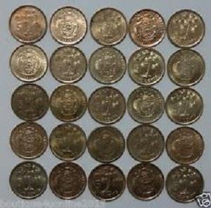gambar mata uang rupee seychelles logam atau koin