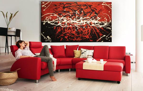 cuadro abstracto moderno con textura irregular simil piedra en mercado libre