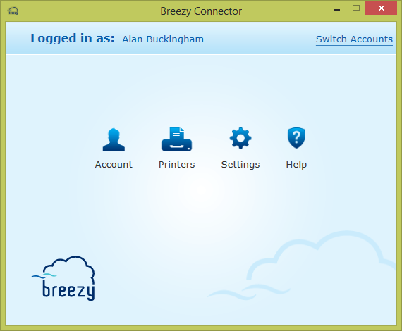 breezy wireless printing application