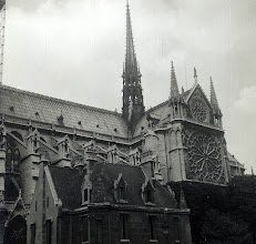 Photo: Paris on Midshipman cruise USS Wisconsin 1953. Up in one of the spires of Notre Dame. Free access where ever we wanted to go. Bet you can't do that now.