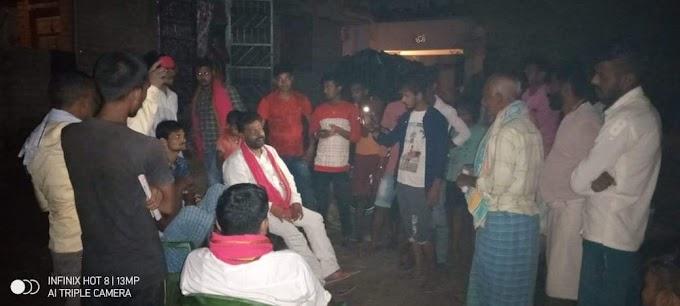 तरैया के पैगंबरपुर में जाप प्रत्याशी संजय कुमार सिंह ने चलाया जनसंपर्क अभियान