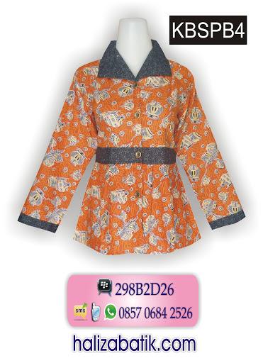 model blus batik terbaru, online baju wanita, baju batik atasan