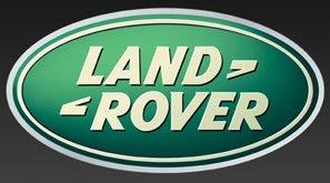 Land Rover logo black background