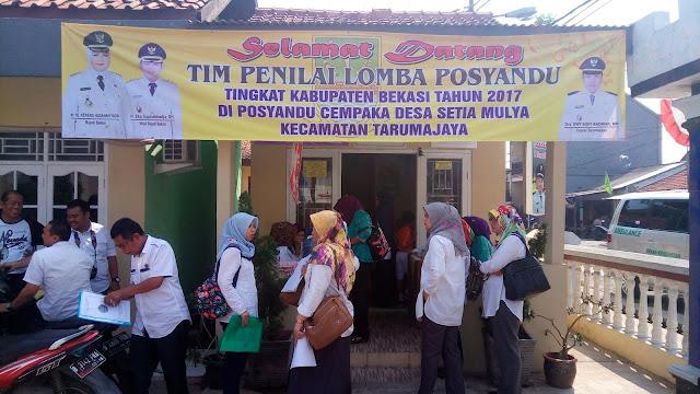 Posyandu Cempaka Wakili Kecamatan Tarumajaya Dalam Lomba Posyandu Tingkat Kabupaten