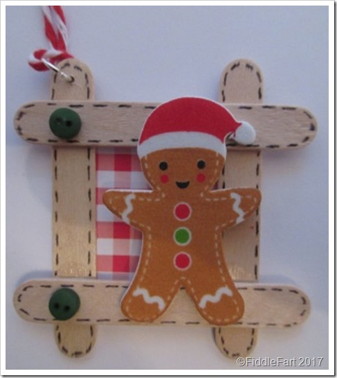 Christmas Craft Stick Gingerbread Man Tag