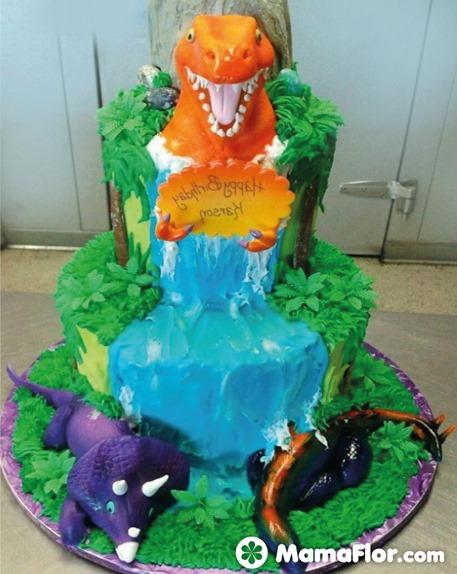 pastel de dinosaurios - 07