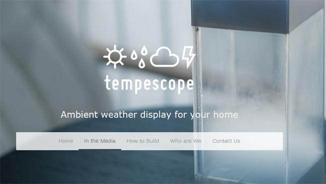Tempescope: el gadget meteorológico que simula virtualmente el tiempo previsto en tu hogar