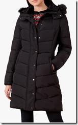 Hobbs Black Padded Coat