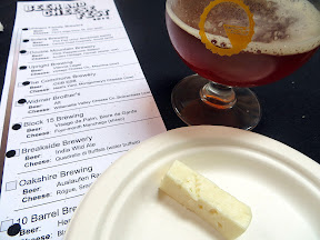 Portland Beer and Cheese Festival, beer and cheese pairing, The Commons Berwery, Steve's Cheese, Breakside and Gigantic Brewery Portland Beer Week India Wild Ale, paired with Quadrello di Buffala, water buffalo, Italy