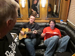 """Pete gives a Dave Matthews jamboree in the back lounge...Scotty invents a new verb and says his guitar is about to get """"Belushi'd"""""""
