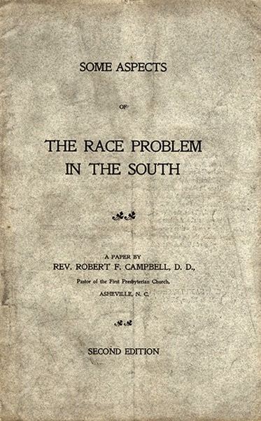 Some Aspects of the Race Problem in the South Blog