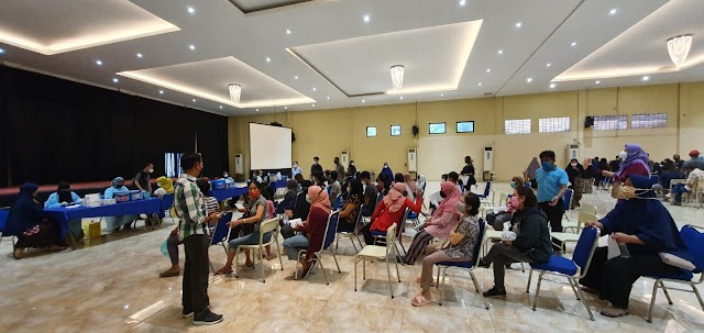 Di Ulang Tahun ke 55 KAHMI Bekasi ajak KPAD Bekasi dan HMI Serbu Vaksinasi di GPM