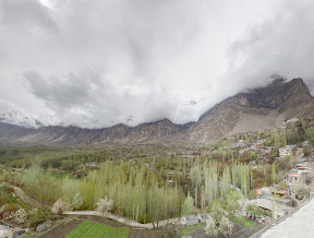 Day-3 in Hunza: Another cold and cloudy morning in Hunza Valley.