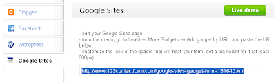 Google Sites Form